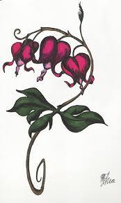Bleeding Heart Flowers Heart Sketch Tattoo For Men And Women