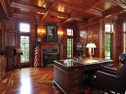 traditional home office. Traditional Home Office With Bush Saratoga Executive Collection Manager\u0027s Desk, Wall Sconce, Built- O