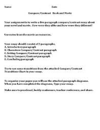 Compare And Contrast Essay Outlines 5 Paragraph Compare Contrast Book Vs Movie Essay Outline By