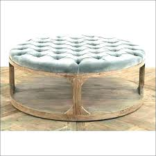 round leather ottoman i black coffee table rectangle