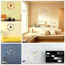 storage office space 1 dinan. Diy Office Art. Contemporary Art Mini Modern Mirror Wall Clock Sticker Design Storage Space 1 Dinan