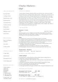 Professional Chef Resume Executive Chef Resume Professional