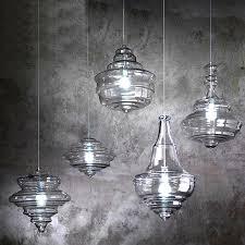 modern north blown glass pendant lighting in chrome finish 10610