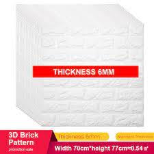 Thickness 6mm 3D Brick Wall Stickers ...