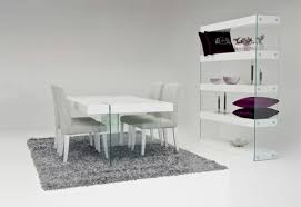Modern White Floating Dining Table - Modern white dining room sets