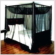 black bed canopy