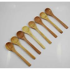 chengyida 8 pack 5 mini wooden spoons condiments salt spoons wooden cooking spoon natural wood