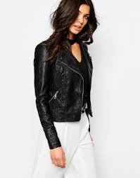 river island whipstitch leather look biker jacket 02