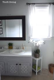 painting a bathroom vanity. Various Before After My Pretty Painted Bathroom Vanity On Paint For Cabinets Painting A U
