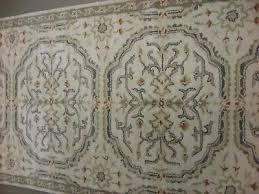 pottery barn medallion neutral 2 6 x 9 runner wool rug