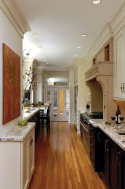 Chic Long Narrow Kitchen Design Long Narrow Kitchen Design And
