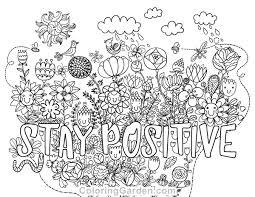 Small Picture Free printable Stay Positive adult coloring page Download it in