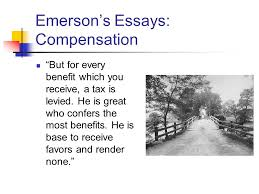 ralph waldo emerson transcendentalism emerson would start out as  5 emerson s essays compensation ""
