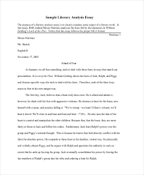 literary essay samples literary analysis example