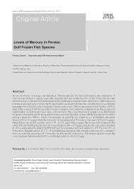 Mercury Levels In Fish Chart Pdf Levels Of Mercury In Persian Gulf Frozen Fish Species