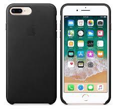 apple iphone 8 plus 7 plus leather case black