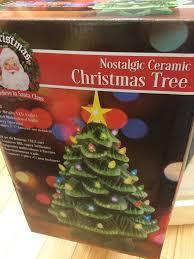Ceramic Christmas Light Up Tree Mr Christmas 14 In Light Up Nostalgic Ceramic Christmas Tree In Green