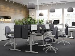 ikea office. A Black And Grey Office With The Height-adjustable, Sit/stand BEKANT Desk Ikea