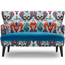 Paisley Sofa baxton studio lacey paisley ikat loveseat with blue seat interior 8181 by xevi.us