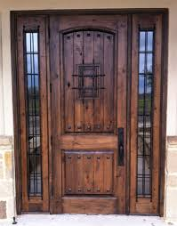 Rustic Wood Door 2 Panel Vgroove Madrid Speakeasy With Clavos And