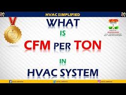 Cfm Per Ton Chart