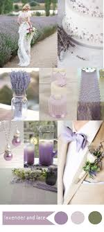 purple wedding color ideas with lace