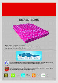 Kurl On Kurlo Bond 5 Inch Single Size Coir Mattress 72x36x5