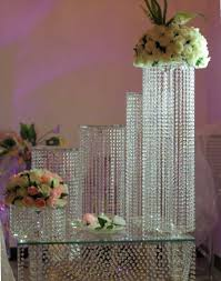 wedding cake crystal stand 6pcs set crystal chandelier wedding cake stand for wedding in