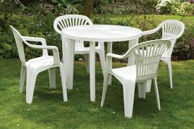 5 piece 4 seater resin garden dining set large 90cm table and 4 chairs great value uk gardens co uk