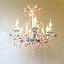 pink crystal chandelier pink chandeliers