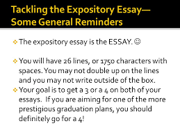 when you come in  bellringer you will need your composition  the expository essay is the essay  you will have 26 lines or