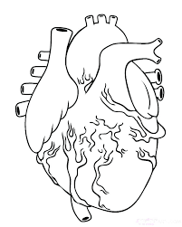 Cool Heart Coloring Pages Cute Heart Coloring Pages Large Page