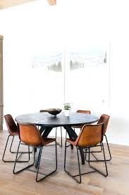 modern leather dining room chairs fabulous dining clean white walls with y leather chairs flanking a