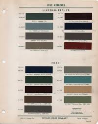 Paint Chips 1937 Lincoln Zephyr Ford