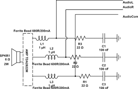 gpio emi esd for audio output pins from allwinner a20 schematic the
