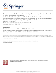 Design And Development Research Pdf Development Research Of A Teachers Educational