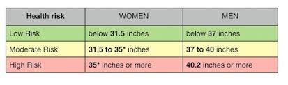 Ideal Waist Measurement Chart Waist Circumference Measure Your Waist To Help Measure Your