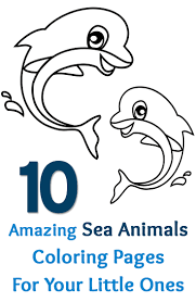 10 Amazing Sea Animals Coloring Pages