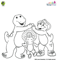 Barney And Friends Spatial Vocabulary Coloring Page Pbs Kids