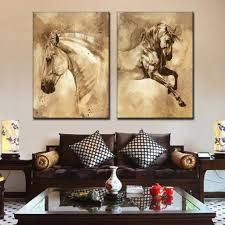 2 panel horse print on canvas