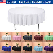 90 inch round tablecloths table cover for wedding parties holiday dinner us