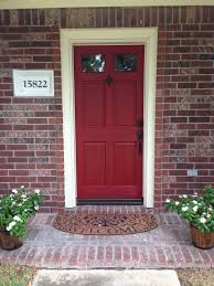 houses with red front doors. Wonderful Houses Door Color Is Front Red By Valspar Door Makeover On Red Brick  House With Houses Doors O