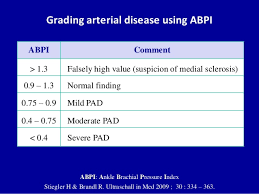 Abpi Calculation Chart Doppler Ultrasound Of Lower Limb Arteries