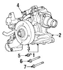 parts com® dodge ram 1500 water pump oem parts 2005 dodge ram 1500 hemi sport v8 5 7 liter gas water pump