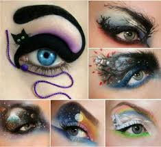 eye shadow art really weird but i like the cat idea for