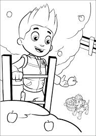 Paw Patrol Coloring Pages Ryder Littapescom