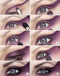 makeup ideas eye tutorial purple magic