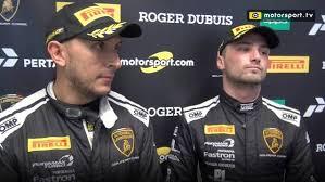 JC Perez and Loris Spinelli take the PRO AM Crown - Lamborghini Super  Trofeo Videos