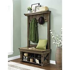 Metal Entryway Storage Bench With Coat Rack Mesmerizing Entryway Storage With Coat Rack Entryway Coat Rack Tower With