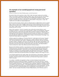 Example Of Autobiography Essay Student Nonlogic